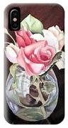 Roses In The Glass Vase IPhone Case