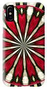 Roses Kaleidoscope Under Glass 17 IPhone Case