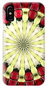 Roses Kaleidoscope Under Glass 23 IPhone Case