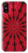 Roses Kaleidoscope Under Glass 24 IPhone Case