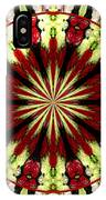 Roses Kaleidoscope Under Glass 25 IPhone Case
