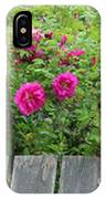 Roses On A Fence IPhone Case