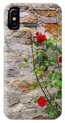 Roses On A Stone Wall IPhone Case