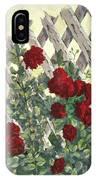 Roses On Lattice IPhone Case