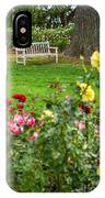 Rosy View - Beautiful Rose Garden Of The Huntington Library. IPhone Case