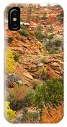Rough Terrain In Autumn Along Zion-mount Carmel Highway In Zion Np-ut IPhone Case