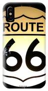 Route 66 Lighted Sign IPhone Case