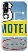 Route 66 Motel IPhone Case