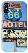 Route 66 Motel Sign 3 IPhone Case