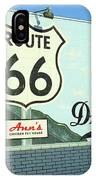 Route 66 - Mural With Shield IPhone Case