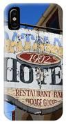 Route 66 - Oatman Hotel IPhone Case