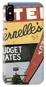 Route 66 - Vernelle's Motel IPhone Case