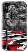Row Of Red Rowing Boats IPhone Case
