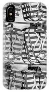 Rows Of Flip-flops Key West - Black And White IPhone Case