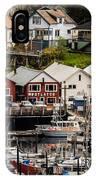 Rows Of Houses And Sails IPhone Case