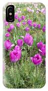 Rows Of Pink And Purple Tulip Flowers IPhone Case