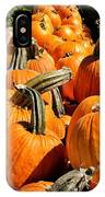 Rows Of Pumpkins Greeting Card IPhone Case