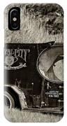 Royal City Paddy Wagon Sepia IPhone Case
