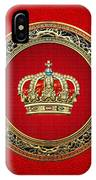 Royal Crown In Gold On Red  IPhone Case