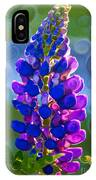 Royal Purple Lupine Flower Abstract Art IPhone Case