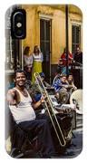 Royal Street Jazz Musicians IPhone Case