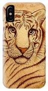Royal Tiger Coffee Painting IPhone Case