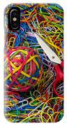 Rubber Band Ball With Sccisors IPhone Case