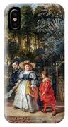 Rubens In His Garden With Helena Fourment IPhone Case