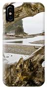 Ruby Beach Driftwood #3 IPhone Case