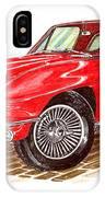 Ruby Red 1966 Corvette Stingray Fastback IPhone Case