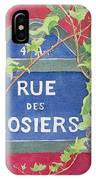 Rue Des Rosiers In Paris IPhone Case