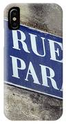 Rue Du Paradis Street Sign IPhone Case