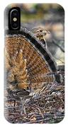 Ruffed Grouse Rear Strut IPhone Case