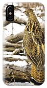 Ruffed Grouse Rear View IPhone Case