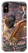 Ruffed Grouse Side Strut IPhone Case