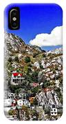 Rugged Cliffside Village Digital Painting IPhone Case