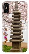 Running By The Tidal Basin IPhone Case