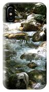 Running Over Rocks IPhone Case