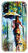 Running Towards Love - Palette Knife Oil Painting On Canvas By Leonid Afremov IPhone Case