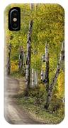Rural Forest Service Road IPhone Case