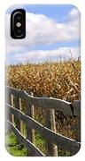 Rural Landscape With Fence IPhone Case