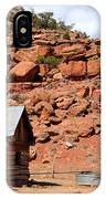 Rural Ranch Cabin During Desert Storm IPhone Case