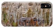 Rural Rustic Rundown Rocky Mountain Cabin IPhone Case