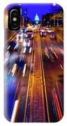 Rush Hour Traffic On North Capitol Show IPhone Case
