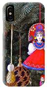 Russian Christmas Tree Decoration In Fredrick Meijer Gardens And Sculpture Park In Grand Rapids-mi IPhone Case