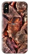 Rusted Bolt In The Rocks IPhone Case