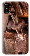 Rusted Gold Mine Equipment IPhone Case