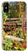 Rusted Old Plow IPhone Case