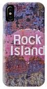 Rusted Rock Island Line Train Car IPhone Case