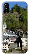 Rustic Alpine Village IPhone Case